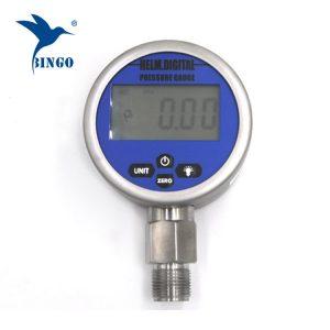ინტელექტუალური ვაკუუმი ციფრული Pressure Gauge, LCD, LED ეკრანი, 100MPa Gauge