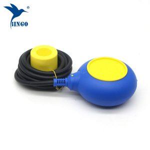 MAC 3 ტიპის დონის მარეგულირებელი ყვითელი და ლურჯი ფერის კაბელის float switch